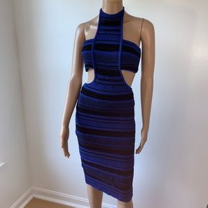 Bebe dress size M blue black